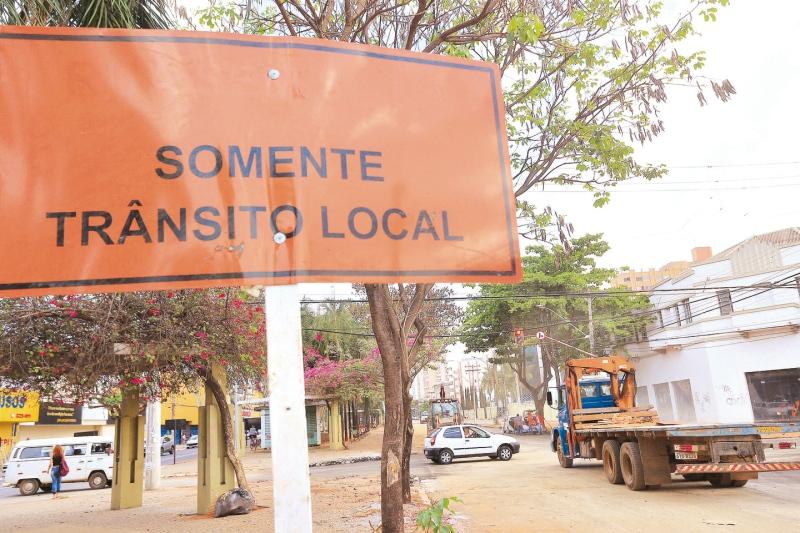 Trecho da Goiás que será liberado apenas para acesso local (Foto: André Costa)